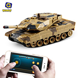 Wholesale Rc Shoot - Wholesale- Huanqi No.H500 RC Tank Bluetooth 2.0 Infrared Shooting Phone Bluetooth Gravity Sensor Super Power Remote Control Toys For Kids