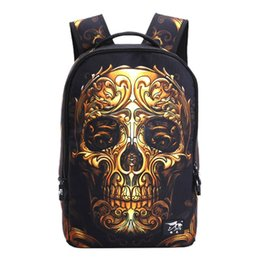 Wholesale Backpack Cooler Pocket - 3D Cool Backpacks Bag Leisure Outdoors Men Women Backpack Polyester Fabric Student Ipad Cell Phone Laptop Backpack for Boys