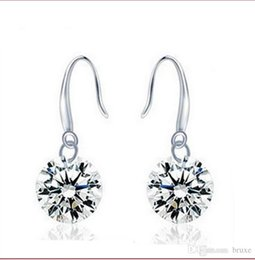 Wholesale Zircon Diamonds - AAA zircon bare diamond earrings temperament Korean female Korean fashion earrings new female long section of decorative earrings