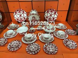 Wholesale Set Fine Bone - 56-piece fine bone china dinner set dining room sets service for 6
