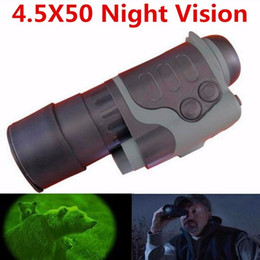 2019 montaje del anillo del tejedor del alcance del rifle Visionking alta calidad HD 720P infrarrojo visión nocturna monocular Alcance SD 4.5x50 para la caza visión nocturna monocular