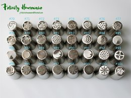 Wholesale Form Flowers - Integral Forming Russian Flower Nozzles 32PCS Stainless Steel Icing Piping Nozzles Cupcake Rose Pastry DIY Cake Decorating Tips