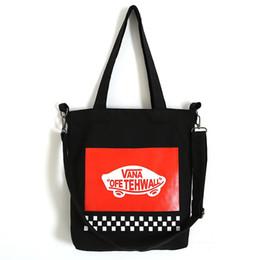 Wholesale Vegetable Prints - Original Letter Print Canvas Totes Bags Fashion Shopping Bags For Women Korean Style Brand Shoulder Bag