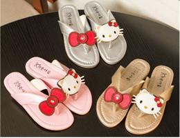 Wholesale Summer Slipper Princess Sandals - Kids Slippers Girls Summer flip flops Cartoon girls sandals Kids Shoes Cat Princess Sandals Flip Flops