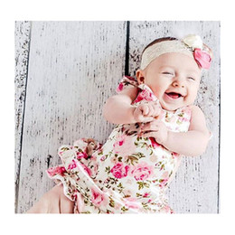 Wholesale Wholesale Baby Barefoot Headband Sets - 15% off! baby romper for toddler headband shoe set; bebe infant summer clothes;3pcs(1 pcs romper +1 pcs headband+1 pair barefoot sandals)