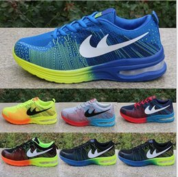 Wholesale New Fabric Lines - best selling 2015 new Spring fashion new men's sneakers rainbow fly line running shoes running shoes breathable slip shoes woman