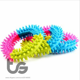 Wholesale Dog Ring Toy - Thorn ring Chew Toys Pet Supplies Toy Bit Ball Ring Resistance Thorn Dog Toys Pet Toy Dog Molar Rubber Toys Free Shipping