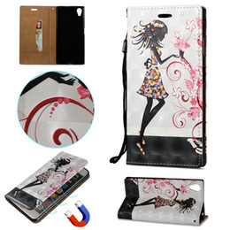 Wholesale Moto Girl - Magnetic 3D Skull Flip Wallet Leather Case For LG Q8 MOTO X4 Google Pixel2 XL Sony Xperia XA1 Plus XZ1 Compact Girl Stand ID Card Skin Cover