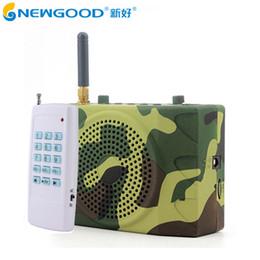 Wholesale Usb Duck - Wholesale- NEWGOOD Bird Caller Outdoor Hunt Duck Decoy Animal Remote Control Hunting Speakers Fm Radio Bird Sound Calls Hunting TF USB Mp3