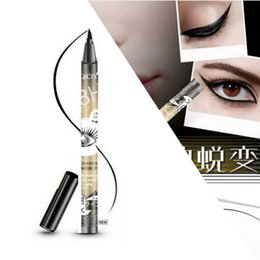 Wholesale Gold Eye Pencil - Wholesale- 1 Pcs QICIY Black Long Lasting Eye Liner Pencil Super Waterproof Eyeliner Cosmetic Beauty Makeup Liquid Eyeliner Pen Gold
