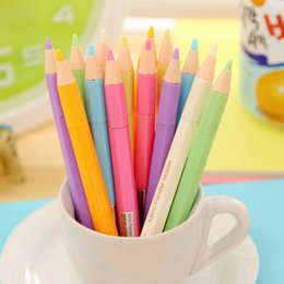 Wholesale Mini Gel Pens Wholesale - Wholesale-12 pcs lot watercolor chalk mini pen gel pen school supplies kawaii stationery material escolar papelaria