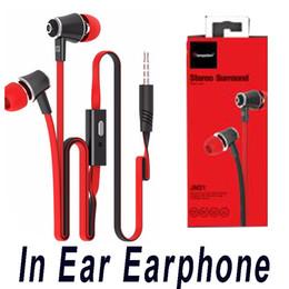 Langsdom JM21 In Ear Earphone Auriculares de alta fidelidad de colores Auriculares Auriculares de bajo para iPhone Samsung ZTE Teléfono móvil con paquete al por menor desde fabricantes
