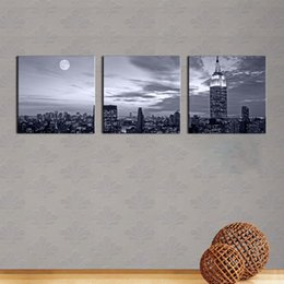 Wholesale Nice Cities - 3 Panel Wall Art Painting Nice Night Scene Prints On Canvas City The Picture Decor Oil For Home Modern Decoration Print For Furniture