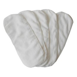 Wholesale nappies liners - newborn baby infant cloth diapers 2 layer nappy liners Microfiber napkin inserts washable reusable Thickening soft and breathable white