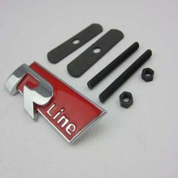 10pcs * 3D nero / rosso e opaco Metal R line Car fender Emblem Badge Sticker per audi RLine A4 A6 Q5Q7A3A5A4LA6LA8L da