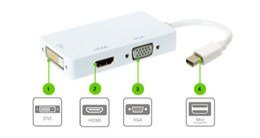 Wholesale Thunderbolt Dvi Imac - Mini dp DisplayPort Thunderbolt to DVI VGA HDMI Adapter 3 in1 for MacBook iMac