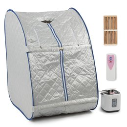Wholesale Home Saunas - Home Portable Steam Sauna Tent Slimming Full Body Spa Therapy Detox Loss Weight