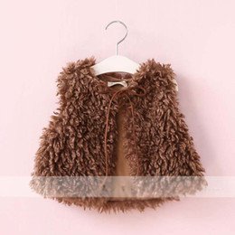 Wholesale Wool Vests Wholesale - New Autumn Winter 2017 Children Waistcoat Girls Fur clothing lamb wool Girls Waistcoats kids Warm Vests Girl Coat Children Outwear A1242