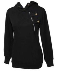 Le camicette korean top online-Donne coreane Pullover maglione con cappuccio Casual Coat Camicetta Top Felpe con cappuccio S M L XL