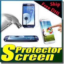 Wholesale Galaxy S4 Mini Screen Guard - 9H Explosion Proof Premium Real Tempered Glass Guard Film Screen Protector For Samsung Galaxy Note 5 4 3 S2 S3 S4 S5 Mini Free DHL 200pc