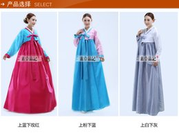 Wholesale Costume National Dresses - 2017 National Costume Stage Outfit Minority Costume Hanbok Korean Traditional Wellia Costume Hanbok Korean Traditional Dress