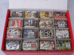 Caja de la joyería de la lata online-Envío gratis 66 series de diseño de joyería de almacenamiento caja de la lata decorativa con tapas dulces auriculares anillo regalos de navidad cajas