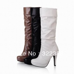 Wholesale Highest Discount Winter Dress - free shipping 2016 new arrival women high heel platform fashion mutual round toe boots pump sexy styles discount dress cheapeast girls boots