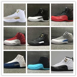 Wholesale Pink Plush Pig Red - Cheap New Retro 12 XII Wool Mens Basketball Shoes Sneakers Women Deep Loyal Blue retros 12S Black White OVO Gym Red Flu Game Shoe US 5.5-13