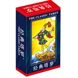 """Wholesale Family Classic - """"Classic Tarot"""" Board Game 78 PCS Set Boxed Playing Card Tarot Board Game For Family Friends With Free Shipping"""