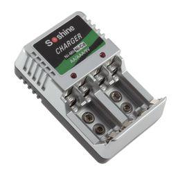 Wholesale 9v Battery Charger Eu - Lisa.Two-way Individual 110V~220V 9V 25mA Original Battery Charger for AA   AAA NiCd NiMh Rechargeable Batteries EU Plug