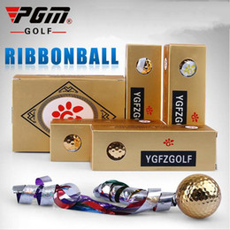 Wholesale Golf Ball Specials - Hot sale Golf Ball Golf tee Colored Ribbon Opening Ceremony Gifts Ball Special Gift Enjoy Swing High Elasticity Wear Ball