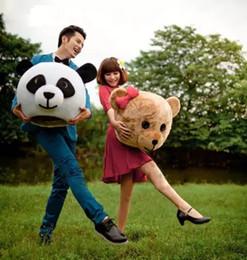 Wholesale Teddy Bear Mascot Costume Head - New Arrival Accessory Panda & Teddy Bear Heads Costume Mascot Cartoon for Lover
