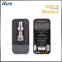 aspire atlantis tank sub ohm Desconto Autêntico Aspire Atlantis 2 Tanque 3.0 ml Atomizador de Fluxo de Ar Ajustável Aspire Atlantis V2 Sub Ohm Bobina Clearomizer Com Sistema de Arrefecimento Ótimo