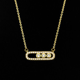 Wholesale Arab Gold Pendant - Wholesale 10Pcs lot 2017 New Arrival Stainless Steel Jewelry Pendant Arab Style Crystal Three Dot Oval Gold Chain Choker Necklaces For Women