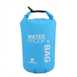 Wholesale Ultralight Kits - 5L Portable Ultralight Outdoor Camping Travel Rafting Waterproof Dry Bag Swimming Travel Bags Kit Orange White Green Blue