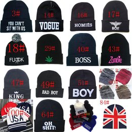 Wholesale Wholesale Swag Women - 102 Styles New Men's SWAG YOLO GEEK USA Beanies Hip Hop Winter Knit Caps Hats Fashion Accessories