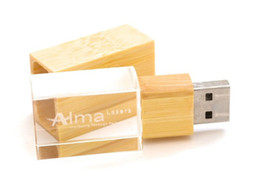 Wholesale Wooden Usb Wholesale - Wooden With Crystal USB Memory Stick Flash 2.0 Buy Cheap Factory USB From China With Custom Logo