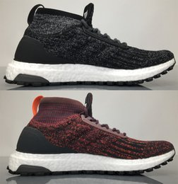Wholesale Cotton Art Canvas - Ultra Boost ATR Mid Oreo Trace Khaki Grey and Burgundy Shoes for Mens Womens, Ultraboost art ltd Primeknit upper and ankle sock