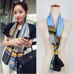 Wholesale Korean Scarves Wholesale - 2016 Newest Autumn silk scarves Korean women printing scarf fashion decoration wild scarf free shipping
