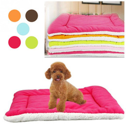 Wholesale Small Cushions - Winter Warm Soft Kennel Pet Dog Mat Cushion For Cat Dog Bed Mat 5 Colors