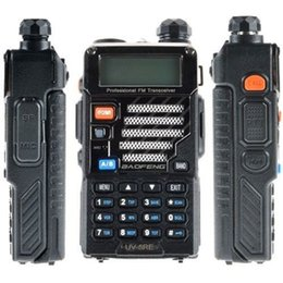 Wholesale Transceiver Station - Wholesale-Upgrade Baofeng Uv-5r 10 Km Walkie Talkie Dual Band Two 2 Way Radio Handheld Transceiver For Ptt Stations Radio Pmr Walky Talky