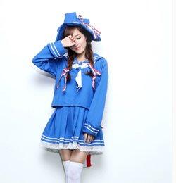 Wholesale Sailor Moon Uniform - Woman Fashion Blue Cosplay Sailor Moon Uniform Navy For Girls Clothes