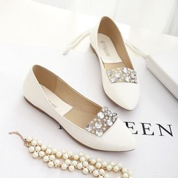 Wholesale Diamond Bowtie - In the spring of 2016 new flat glass diamond pointed comfortable shoes all-match sweet autumn shoes