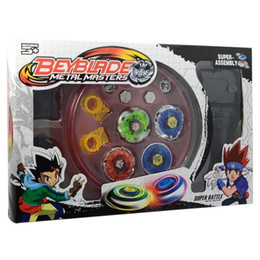 Wholesale Beyblade Metal Masters Sets - Metal Fusion Master Masters Beyblade Fight Launcher Rare Toy Set 4D for Children