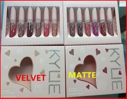Wholesale Matt Lipsticks - Makeup Kylie The Birthday Collection MATTE Liquid lipstick 6pcs set I want it ALL 2 Colors By Kylie Jenner valvet & matt lip gloss