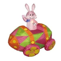 Wholesale Best Balloon Decorations - best popular inflatable Easter decoration inflatable Easter bunny ride include for sale with free air blower