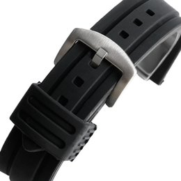 Wholesale Replacement Spring - Wholesale- 20mm 22mm 24mm 26mm 28mm Silicone Sport Watchband Replacement Diving Bracelet Black Watch Strap Band Waterproof + 2 Spring Bars