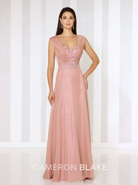 Wholesale Images Floor Motifs - 2016Chiffon A-line gown with slight cap sleeves hand-beaded sweetheart bodice trimmed with ruched chiffon beaded motif at natural waist back