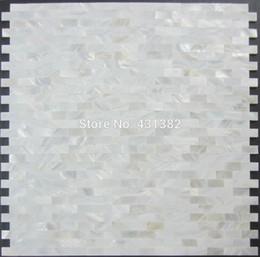 Wholesale Wholesale Wall Tiles - Shell mosaic mother of pearl tile backsplash brick sea shell tiles white mother of pearl tiles bathroom mosaic tile