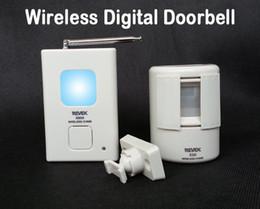 Wholesale Doorbell Sensor Chime - Wireless Digital Doorbell Door Chime,Driveway Patrol Security Alarm and Motion Sensor,Welcome Door Bell 16 Chime Sounds,audio doorbell